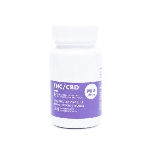 1:1 THC/CBD Capsules - 10mg