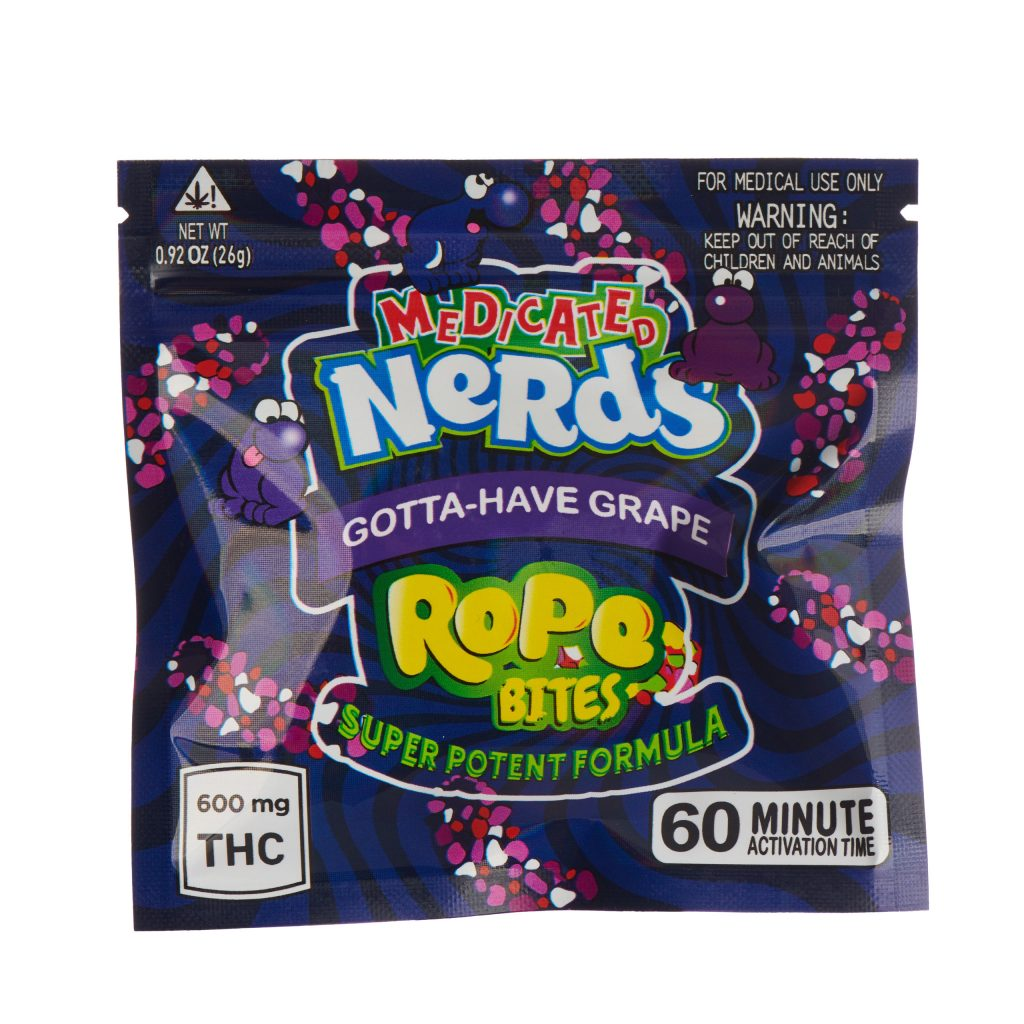 Medicated Ners Ropes Bites - Gotta-Have Grape